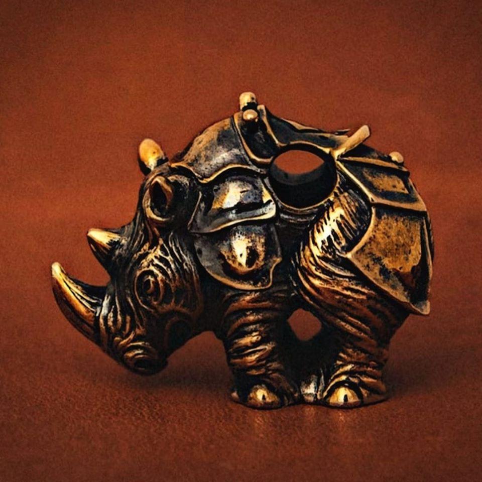 Бусина для темляка «Боевой носорог»