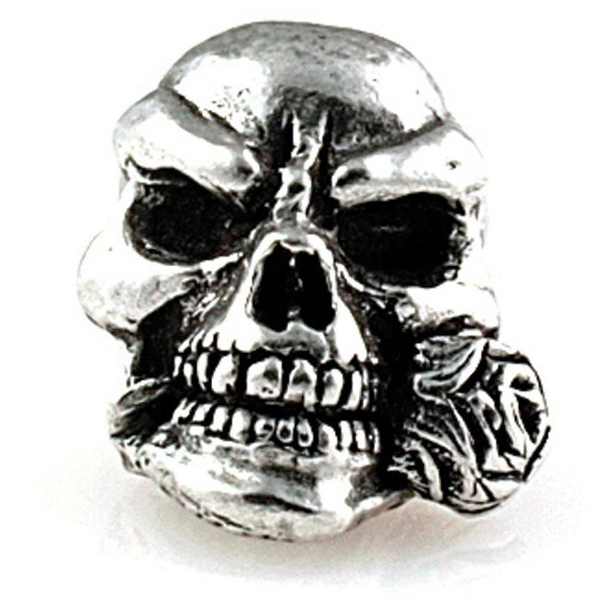 Металлический череп ROSE для темляка из паракорда
