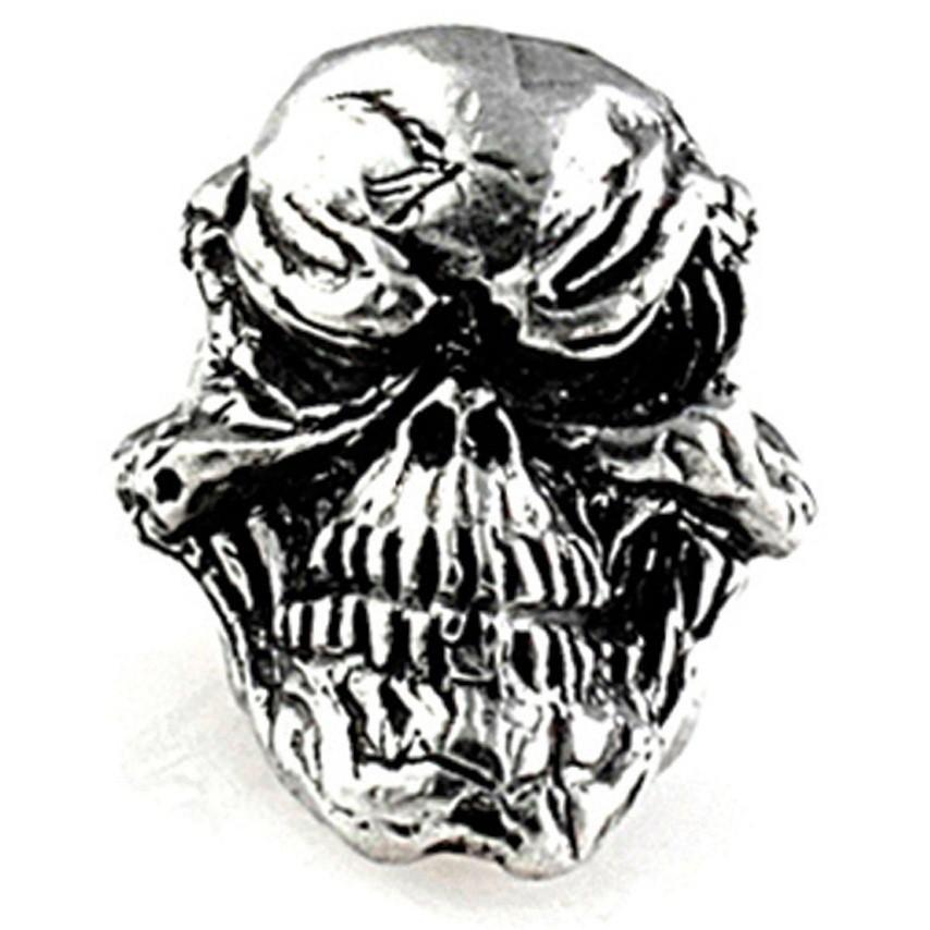 Металлический череп GRINS для темляка из паракорда