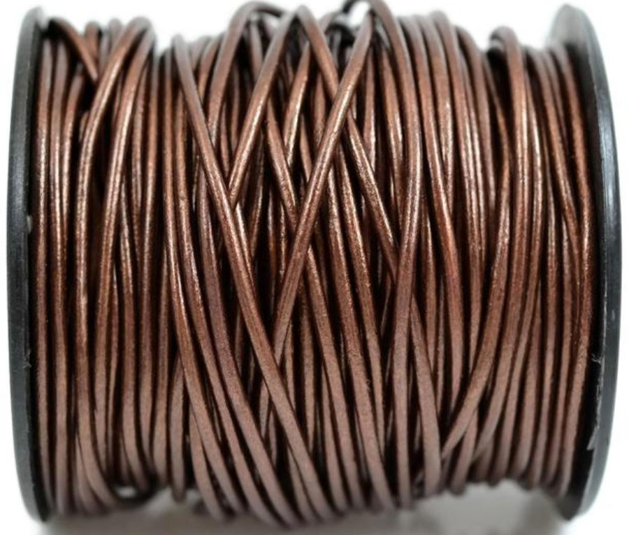 Кожаный шнур коричневый, круглый  3мм