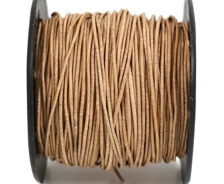 Кожаный шнур светло-коричневый 2мм