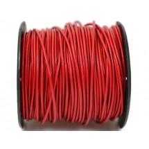 Кожаный шнур красный 2мм