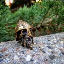 Бусина для темляка «Бородатый череп с шлемом»