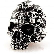 Металлический череп MIND для темляка из паракорда