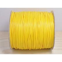 Кожаный шнур желтый 2мм