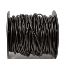 Кожаный шнур черный 2мм