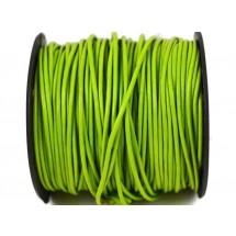 Кожаный шнур салатовый 2мм