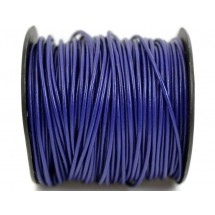 Кожаный шнур синий 2мм