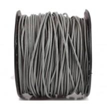 Кожаный шнур серый 2мм