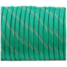 Paracord reflective, emerald green №r3086